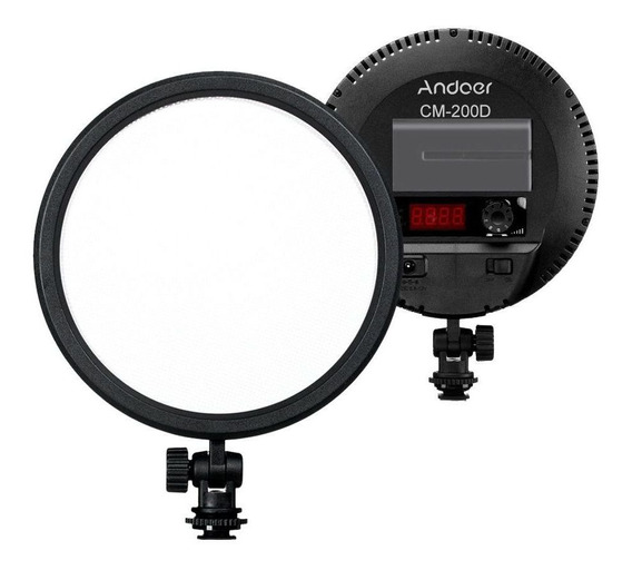 Ring Light Andoer 6 Polega 120 Led Bi-cor Cm-200d Luz Fonte