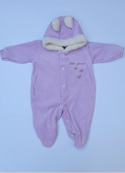Macacão Bebê Menino Com Capuz Plush