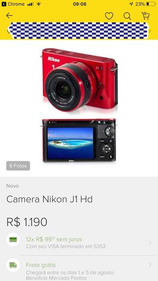 Câmera Nikon Com Carregador E 2 Bateria E Cabo Usb