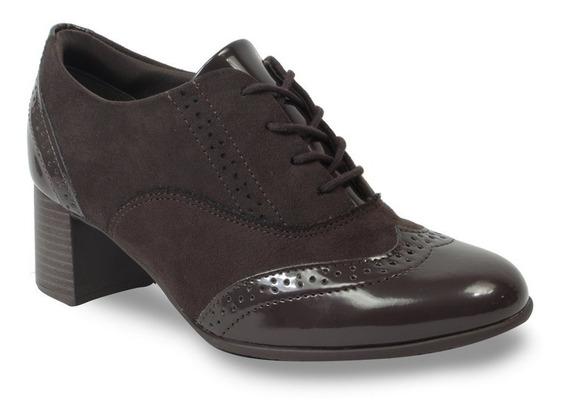 Sapato Oxford Comfortflex Camurça Feminino 1999307 2019