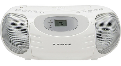 Som Portátil Philco Boombox Pb119b Cd Player Rádio Fm Usb