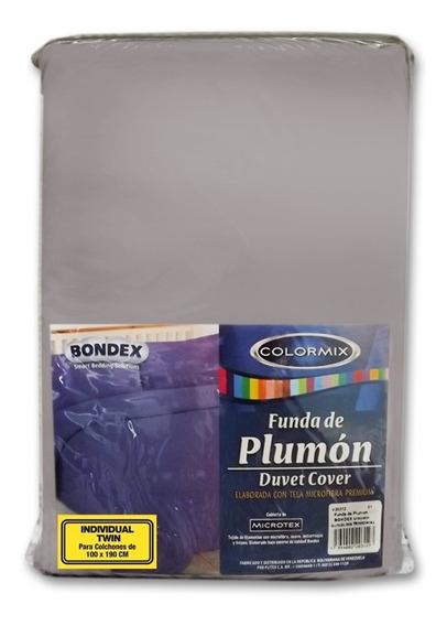 Funda De Plumon Bondex Unicolor Tamaño Individual