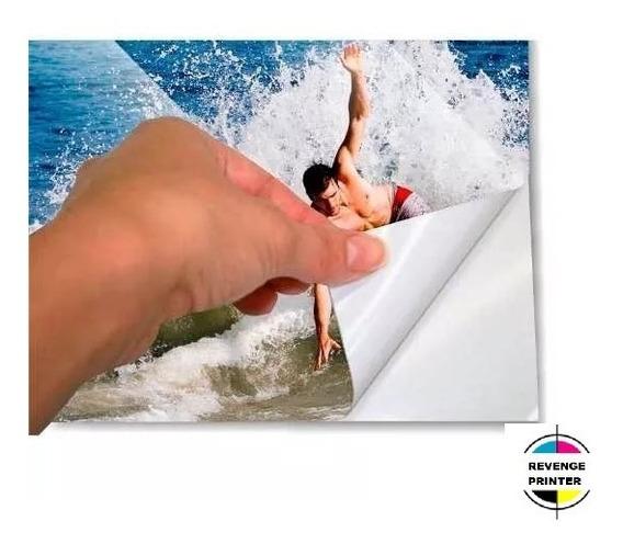 Papel Foto Glossy 135g A4 Brilho 200 Folhas Auto Adesivo