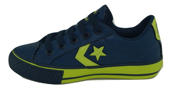 Tênis Converse Star Player Ev Kids Marinho Verde Intenso