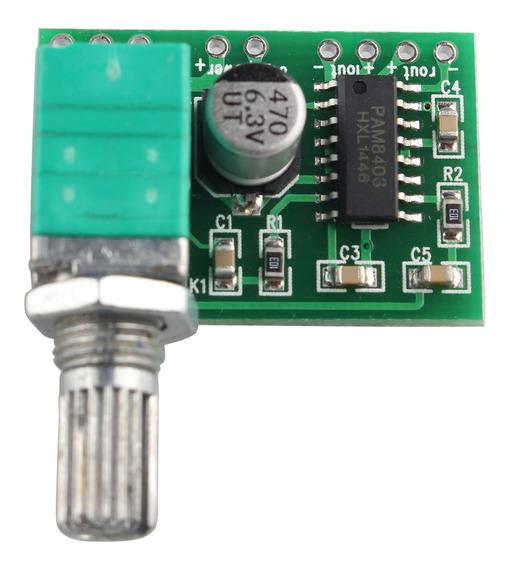 Pam8403 5v Placa De Amplificador De Áudio Usb De 2 Canais 3w