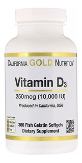 Vitamina D3 10.000ui - 360 Cápsulas Gelatinosas Softgels