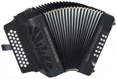 Hohner Compadre G / C / F 3-fila Diatonic Acordeón - Negro