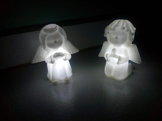 10 Luminária Led Abajur Anjo Infantil Decoração Atacado