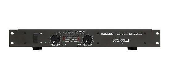 Amplificador 2 Canais Estéreo 250w D1000 W Power Ciclotron