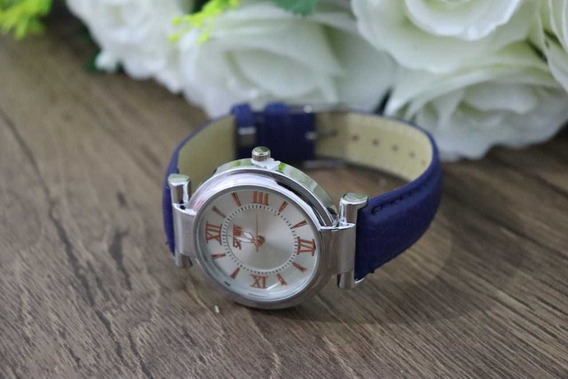 Relógio Feminino Original Pulseira De Couro