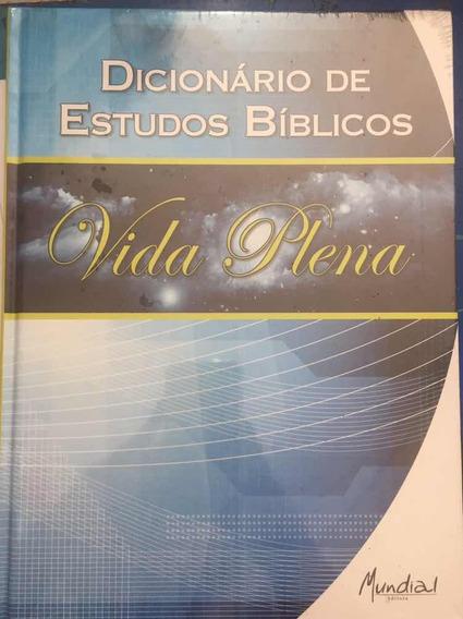 Livro Dicionário De Estudos Bíblicos - Vida Plena