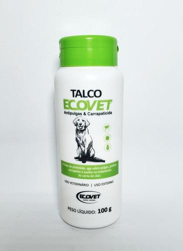 Talco Ecovet Antipulgas Carrapatos Caes Cachorros 100gr