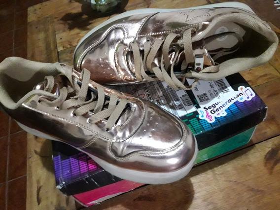 Zapatillas Footy Dorada