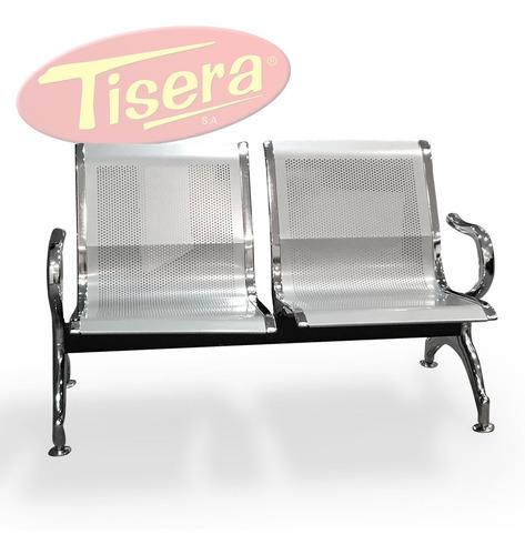 Tandem Doble Sala Espera Metal Chapa Perforada Tisera Air2
