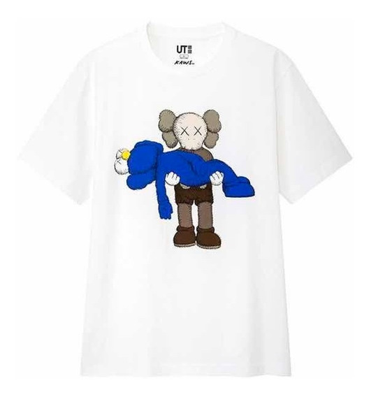 Playera Tshirt Kaws X Uniqlo Gone Blanca Original Garan