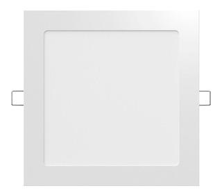 Panel Plafon Led Cuadrado De 18w Embutir Luz Fria - Spot