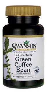 Green Coffee Bean Grano Verde De Café 60 Capsulas 400mg