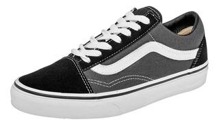 vans gris con negro Off 60%