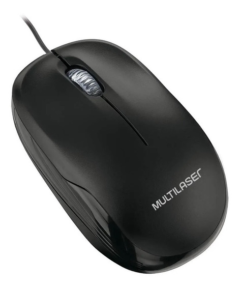 Mouse Usb Óptico Multilaser Preto Mo255 Caixa Lacre Original