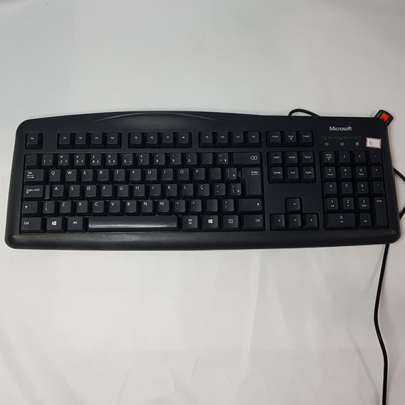Teclado Usb Microsoft Keyboard 200 - Msk-1406 Preto Usado