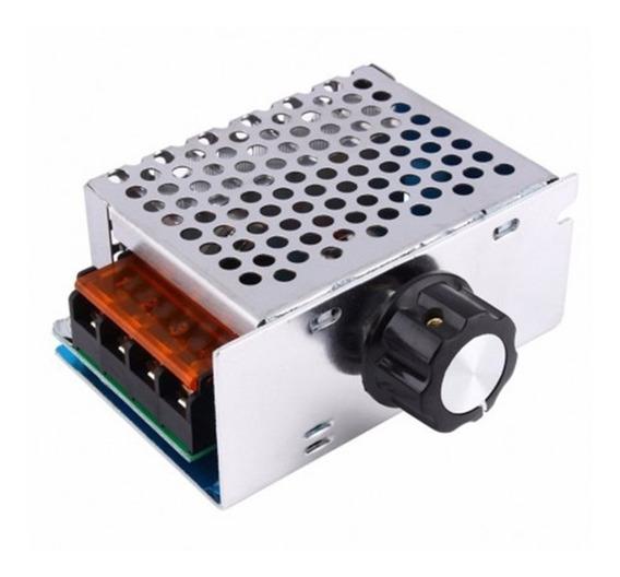 Dimmer 4000w Regulador De Tensão Elétrica Ac 10-220v C/ Nota