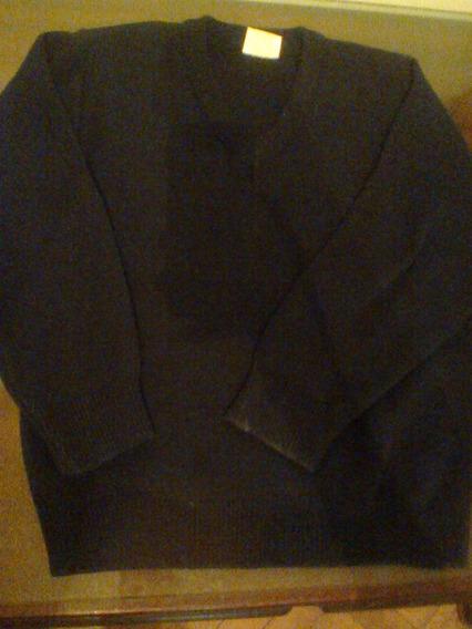 Sweater Escote V Escolar Usado Color Azul Oscuro