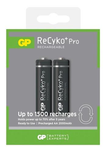 Bateria Recargable Aa Gp Recyko Pro  2000mah Pila Pack 2