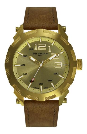 Reloj Suizo Hombre Nivada Np2412mdodr ¡¡original!!