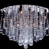 Lustre Cristal - Base Redonda Aço Inox Polido - 57cm