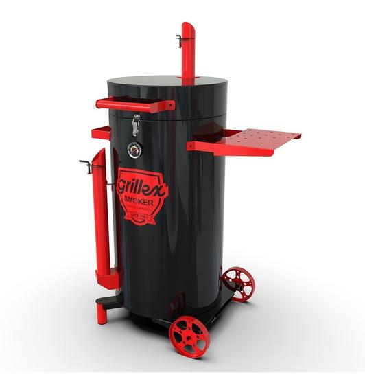 Churrasqueira Defumação Pit Smoker Grillex - Preta/vermelha