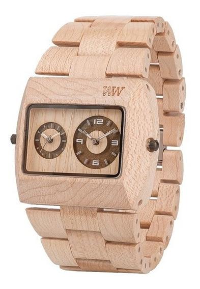 Relógio De Madeira Reciclável Wewood