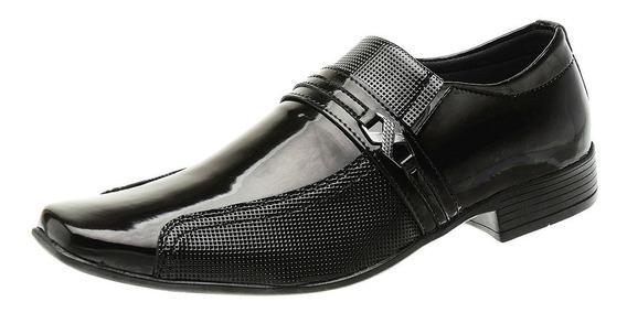 Sapato Social Sem Cadarço Masculino Verniz Impacto - 1041e