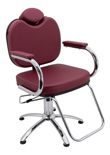 Imagem 1 de 6 de Cadeira Poltrona Pop Recl. Móveis Para Cabeleireiro Barbeiro