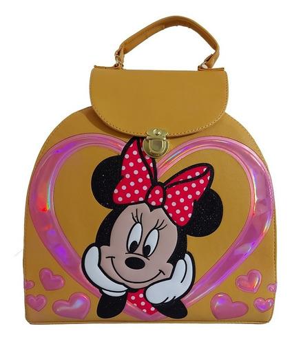 Imagen 1 de 7 de Bonita Bolsa - Mochila Para Dama, De Disney (minnie Mouse)