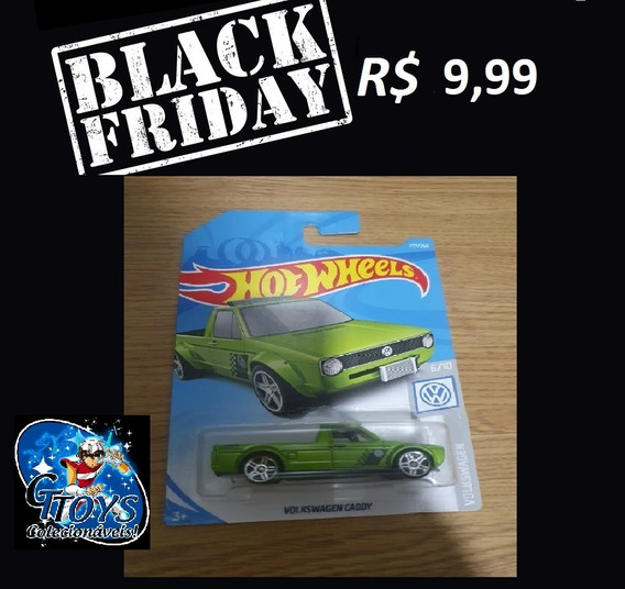 Black Friday Hot Wheels 2017 Volkswagen Caddy Pickup Verde