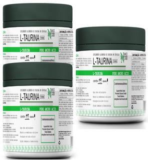 Combo 3x Taurine Pure Aminoacid 45 Caps- Nano Farma Labs