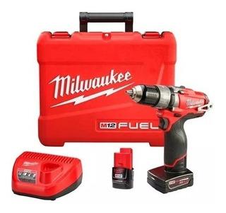 Taladro Percutor Atornillador 12v Milwaukee* 2404-259a Fuel