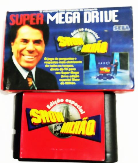 Fita Do Jogo Show Do Milhão Para Mega Drive Usada