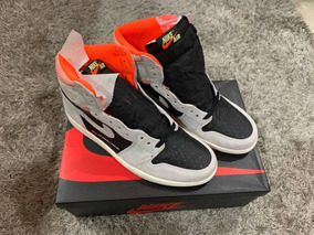 Sneakers Jordan 1 Retro High Neutral Grey Hyper Crimson
