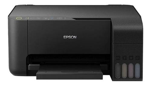 Imagen 1 de 4 de Impresora a color multifunción Epson EcoTank L3150 con wifi negra 220V