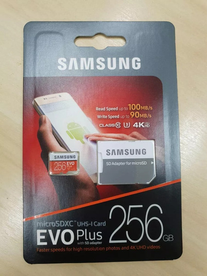 Cartao De Memoria Samsung Evo Plus 4k 256gb