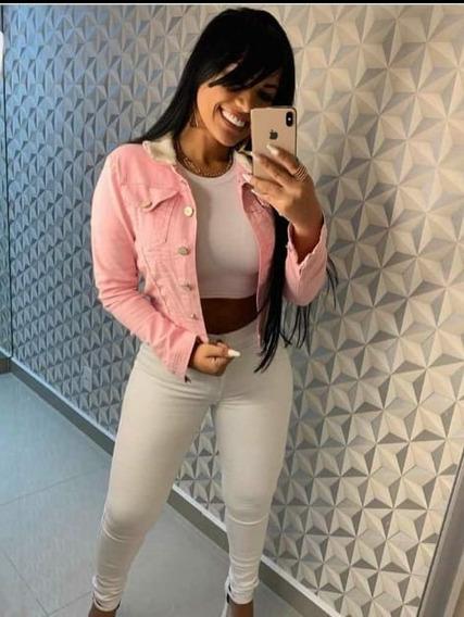 Jaqueta Jeans Rosa 23 Graus Promoção