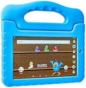Tablet Kids Galinha Pintadinha Multilaser Quad Core 8gb