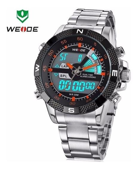 Relógio Weide Anadigi Wh-1104 Novo.a Prova De Água .