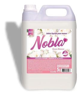 Jabon Liquido Para Manos Nobla Rosas Blancas Bidon 5lts
