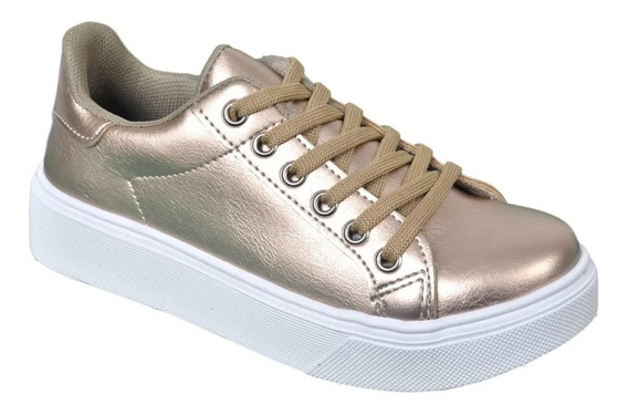 Zapatillas Mujer Urbana Sneakers Plataform 3 Cm Art. 799