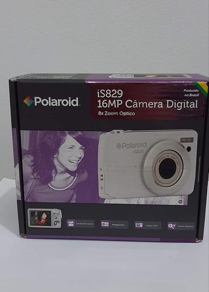 Câmera Dig. Polaroid Is829 Preta16mp, Lcd 2,7 Zoom Óptico 8x