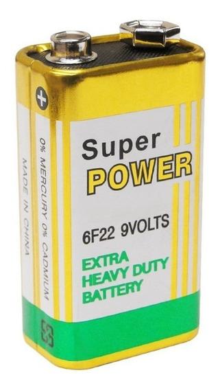 Bateria Pilha 9v Caixa C/100 Unidades *atacado* Super Power