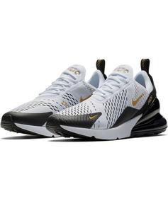 Zapatos Nike Airmax 270 Blanco/negro/dorado