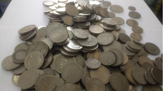 Lote 50 Moedas De Réis Nacionais Antigas Níquel - Colecionar